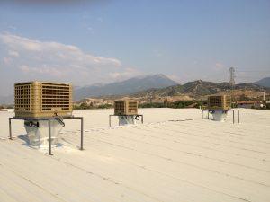 20000 metreküplük evaporatif klima çatı uygulaması