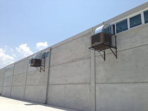 fabrika yan duvar endüstriyel klima