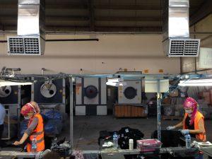 cam fabrikası sulu evaporatif klima uygulaması