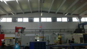 Evaporatif sulu soğutucu fabrika içi uygulaması