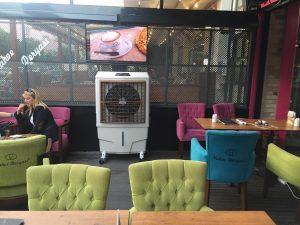 Mobil evaporatif Kafe içi sulu soğutma cihazı s80