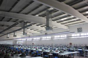 Springday s300 endüstriyel klima tekstil fabrikası emiş ve üfleme uygulaması