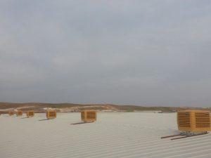 springday s200 endüstriyel klima çatı uygulaması