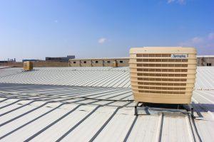springday s200 endüstriyel klima fabrika çatı uygulaması