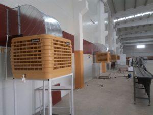 springday s200 endüstriyel klima fabrika yan duvar uygulaması