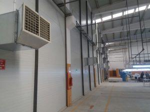 springday s200 endüstriyel klima fabrika yan duvar uygulaması iç mefez uygulaması