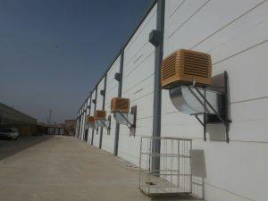 springday s200 endüstriyel klima fabrikası yan duvar uygulama