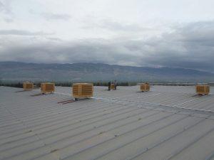 springday s200 endüstriyel klima tekstil fabrikası çatı uygulama