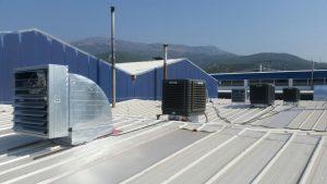 springday s300 endüstriyel klima paltik fabrikası çatı emiş uygulaması ile birlikte-3